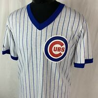 Vintage Chicago Cubs Jersey T Shirt Pinstripe MLB Baseball 80s 90s USA