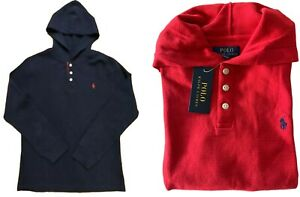 Genuine Boys Ralph Lauren Polo Hoodie waffle weave top L 14 - 16  new with tags