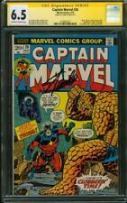 Captain Marvel 26 CGC SS 6.5 Stan Lee 1973 1st Thanos Cover Avengers Endgame