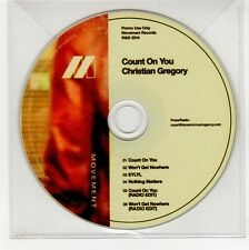 (GG341) Christian Gregory, Count On You - 2014 DJ CD