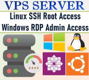RDP SERVER / VPS SERVER 2 GB RAM + 80 GB HDD
