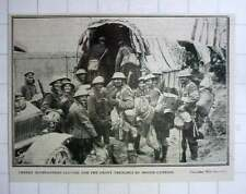 1917 Cheerful Highlanders Leaving For The Front Trenches By Motor Lorries