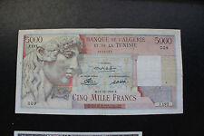 1949 Algeria Tunisia 5000 Francs P109