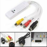 USB 2.0 To 3 RCA VHS DVD Game Audio Video Capture Card NEW Adapter B9J6