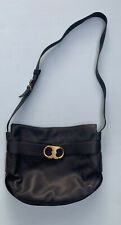 Tory Burch Purse Black Leather Gemini Buckle Crossbody