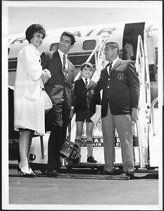 Vocalist Sergio Franchi in Boston 1960s Original Press Photo 1960s Jet Aviation