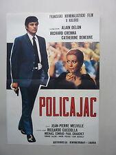 UN FLIC / MELVILLE-DELON-DENEUVE (1972/FRANCE) ORIGINAL YUGOSLAVIAN MOVIE POSTER