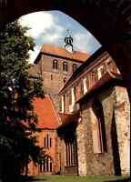Kirchen Motiv-Ansichtskarte HAVELBERG Dom Sankt Marien Blick in den Klosterhof