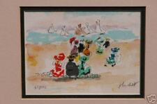 "Huchet Lithograph ""Watching The Sailboats"" 45/175"