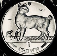Isle of Man - Japanese Bobtail Cat Crown - 1994 - Br. Uncirculated in Folder