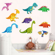 Colorful Dinosaur Wall Sticker Removable Dino Decals Mural Art Nursery Bedroom