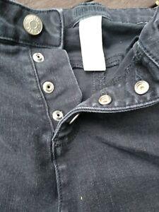 Girls Justice Black Denim Shorts Size 18 Distressed