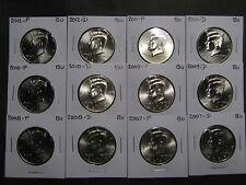 2007 2008 2009 - 2015 2016 2017 P  D  KENNEDY HALFS  FROM MINT RLS (22) coins)