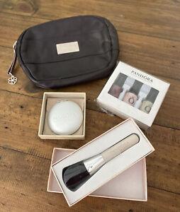 Pandora Makeup Leather Bag Brush Nail Polish Mirror Genuine Ale Rare