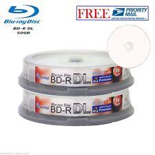 20 Pack Smartbuy White Inkjet Printable Blu-ray BD-R DL Dual Layer 6X 50GB Disc