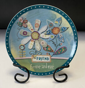 """Carson Home Accents - FRIEND- Life's Heartstrings Mini Plate (5"""") w/ Metal Easel"""