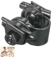 "VELO 7/8"" BLACK BICYCLE SEAT RAIL CLAMP GUTS ASSEMBLY."