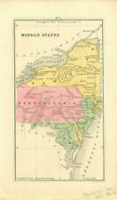 1852 Map of Middle States on East Coast by Goodrich American History