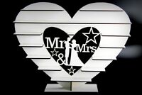 """Mr & Mrs"" -  Ferrero Rocher Stand  WHITE MDF   !!!! ASSEMBLED !!!"