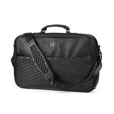 Alfa Romeo Black Leather Shoulder Laptop Computer Bag New Genuine 6002350060