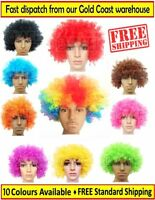 Afro Curly Party 70s 80s Disco Circus Fancy Dress Up Party Costume Clown Wig