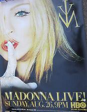 Madonna Live HBO Aug. 26,2001 Rare Giant Poster app 4'x6'