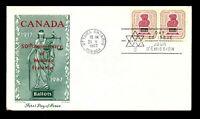Canada 1967 Women's Franchise 50th FDC / Jackson Cachet / UA - L12368