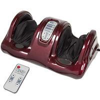BCP Shiatsu Foot Massager Kneading & Rolling Leg Ankle w/Remote,3 Modes-Burgundy