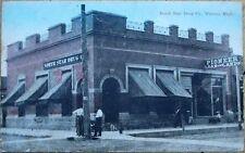 Warren, MN 1911 Postcard: North Star Drug Co./Store/ Pharmacy - Minnesota Minn