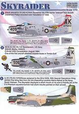Print Scale Decals 1/72 DOUGLAS A-1H SKYRAIDER Attack Plane