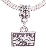 Friendship Hands Best Friend Gift Dangle Bead fits European Charm Bracelets