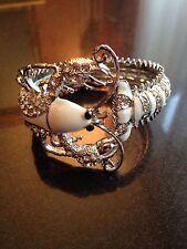 Rhinestone Enamel Alloy Bangle Costume Bracelets