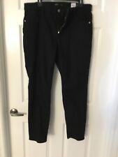 Vera Wang Size 16 W Black Denim Jeans Skinny Mid Rise Nwt
