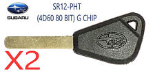 X2 Subaru SR12-PHT (4D60 80 BIT) G CHIP Transponder Key USA Seller TOP Quality