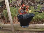 no.17 antique farm coal ash metal bucket scuttle porch yard art flower planter