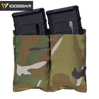 IDOGEAR Tactical 5.56 Mag Pouch Fast Draw MOLLE Double Mag Carrier Paintball MC