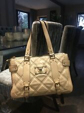 £750 Marc Jacobs Leather Quilted Handbag Cream Winter Bag 100% Genuine