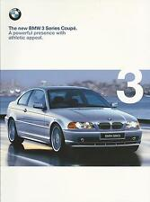 BMW 3 Series Coupe UK Market Brochure 1999 46 Pages Includes 323Ci & 328Ci