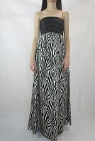 WISH Zebra Print Silk Allegra Maxi Dress Size S (10)