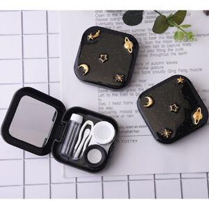 1Set Contact Lens Case Tweezers Stick Inserter Remover Tool Kit Tip Storage Box