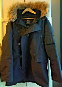 """Schwarz S(=M-L) Alpha Industries N-3B """"Alaska"""" schwerer Winterparka/Winterjacke"""
