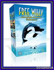 FREE WILLY -THE 4 MOVIE COLLLECTION BOXSET **BRAND NEW  DVD **
