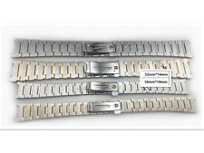 Steel/Silver men Strap Watch Band Fit For Omega Constellation 14x22mm