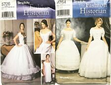 SIMPLICITY 5726 & 9764 Patterns-Civil War Undergarments-Reenactment/Cosplay