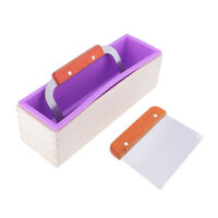 Rectangle Loaf Silicone Soap Mold with Wavy Straight Soap Cutter Slicer Tool
