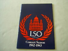 Programme: London 1982 BERLIOZ La Damnation de Faust Janet Baker LSO Colin Davis