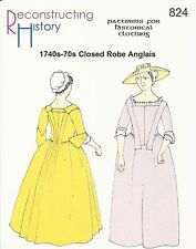 Schnittmuster RH 824: 1740s-70s Closed Robe Anglais