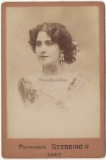Guerrero Actrice ? Photo Professeur Stebbing Paris Vintage Albumine vers 1890