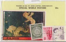 (V6-21) 1950s World old stamps pack 4stamps mix (U)