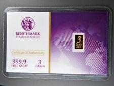 Approx.1/5 Gram Gold Bar  24K 999 Fine Gold Bullion Bar in  cert card 22c